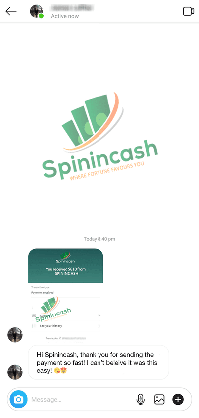 Spinincash Payment Proof